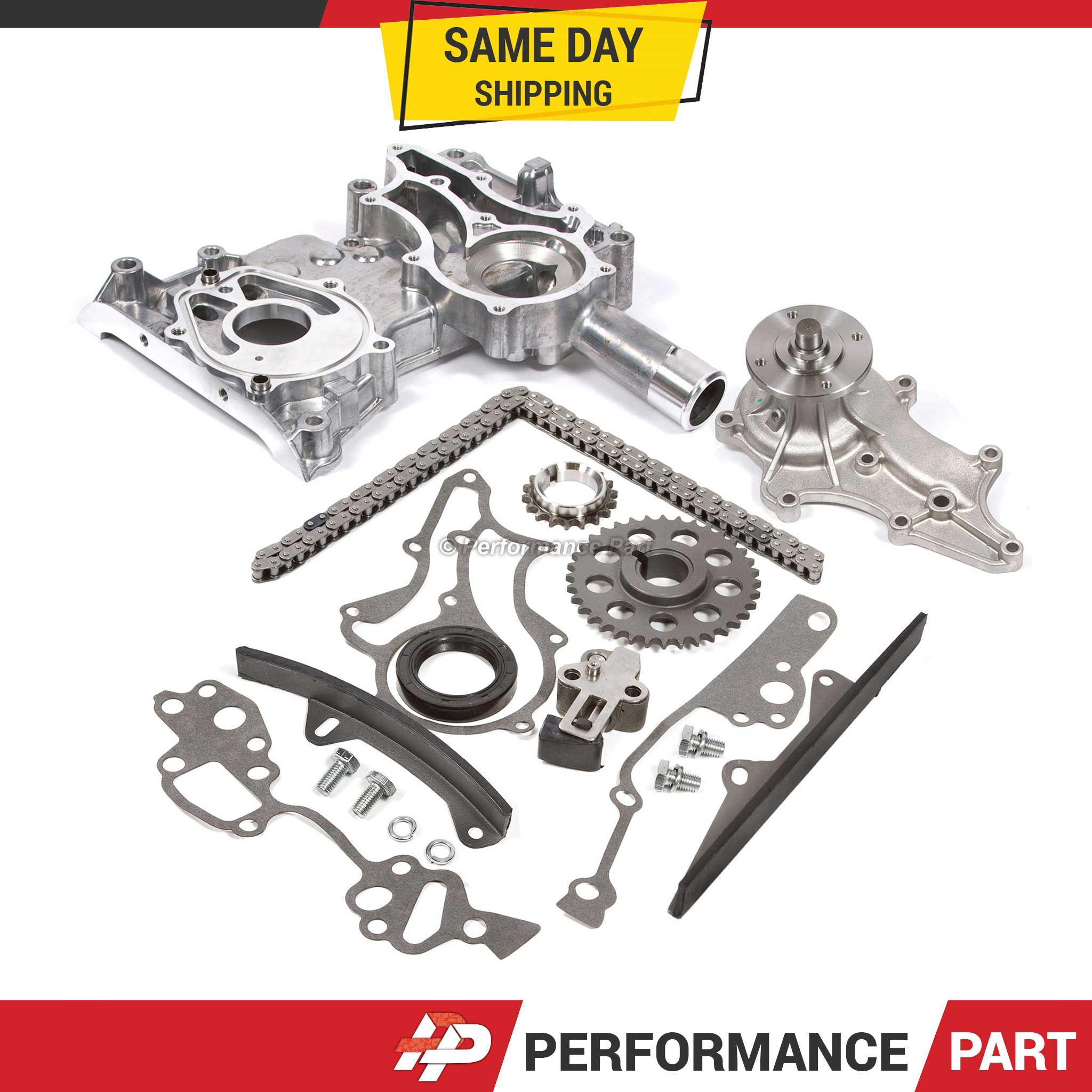 85 95 Toyota 22r 22re Water Pump Timing Chain Kit W 2 Metal Guides Belt 00 Saab 9 5 Image Is Loading
