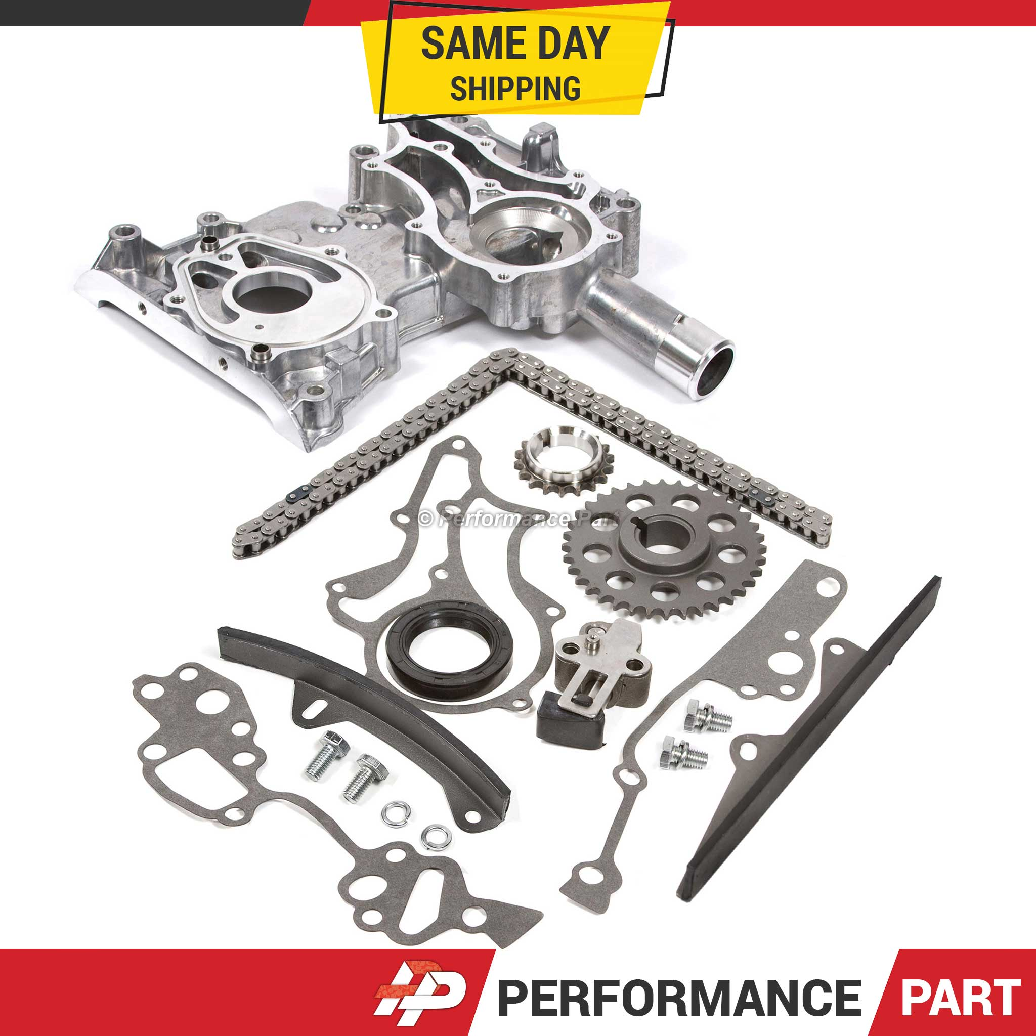 Details about 85-95 Toyota 22R 22RE Timing Chain Kit w/ 2 Metal Guides +  Timing Cover