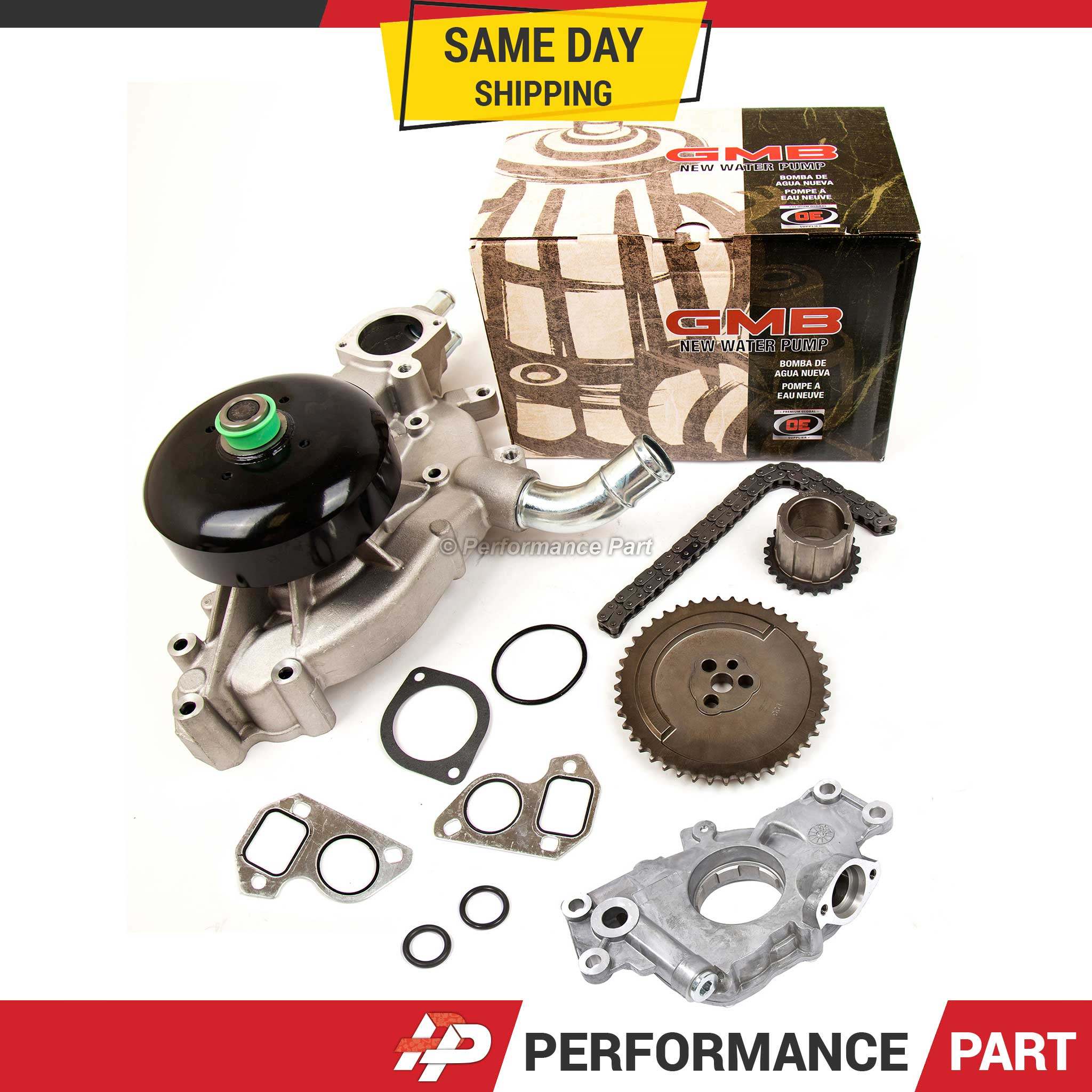Timing Chain Kit Water Oil Pump for 97-04 Cadillac Chevrolet GMC 4.8